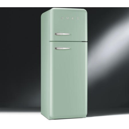Smeg FAB30RFG Fifties Style Right Hand Hinge Top Mount Freestanding Fridge Freezer - Pastel Green