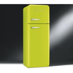 Smeg FAB30RFL Fifties Style Right Hand Hinge Top Mount Freestanding Fridge Freezer - Lime Green