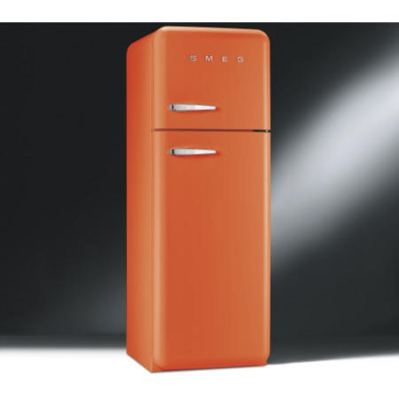 Smeg FAB30RFO Fifties Style Right Hand Hinge Top Mount Freestanding Fridge Freezer - Orange