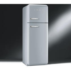 Smeg FAB30RFS Fifties Style Right Hand Hinge Top Mount Freestanding Fridge Freezer - Silver