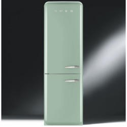 Smeg FAB32LNG Fifties Style Frost Free Left Hand Hinge Freestanding Fridge Freezer Pastel Green
