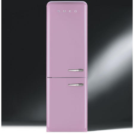 Smeg FAB32LNP Fifties Style Frost Free Left Hand Hinge Freestanding Fridge Freezer Pink