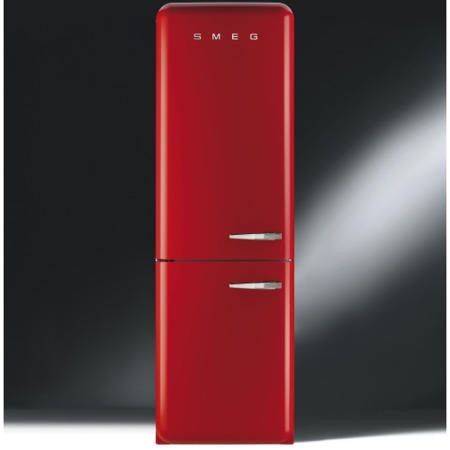 Smeg FAB32LNR Fifties Style Frost Free Left Hand Hinge Freestanding Fridge Freezer Red