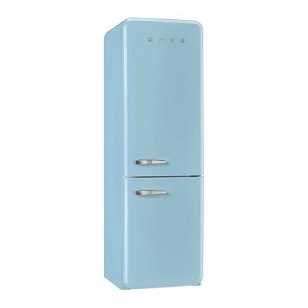 Smeg FAB32RNA Fifties Style Frost Free Right Hand Hinge Freestanding Fridge Freezer Pastel Blue
