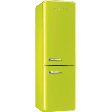 Smeg FAB32RNL Fifties Style Frost Free Right Hand Hinge Freestanding Fridge Freezer Lime Green
