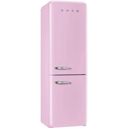 Smeg FAB32RNP Fifties Style Frost Free Right Hand Hinge Freestanding Fridge Freezer Pink
