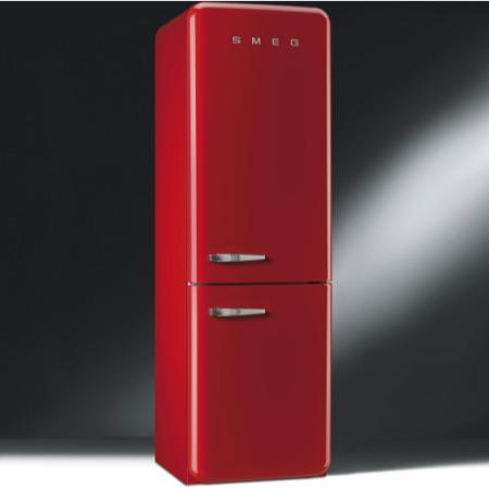 Smeg FAB32RNR Fifties Style Frost Free Right Hand Hinge Freestanding Fridge Freezer Red