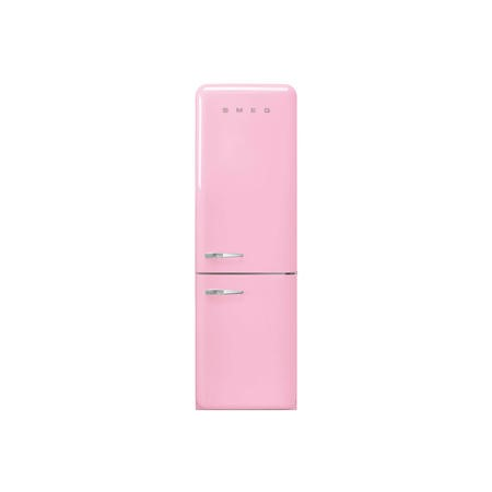 Smeg FAB32RPK3UK 50s Style Frost Free Right Hand Hinge Freestanding Fridge Freezer - Pink