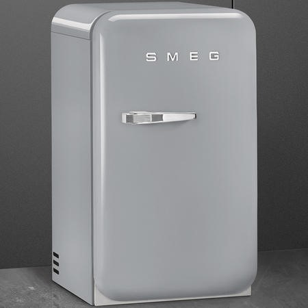 Smeg FAB5RSV 50s Style Right Hand Hinged Minibar - Silver