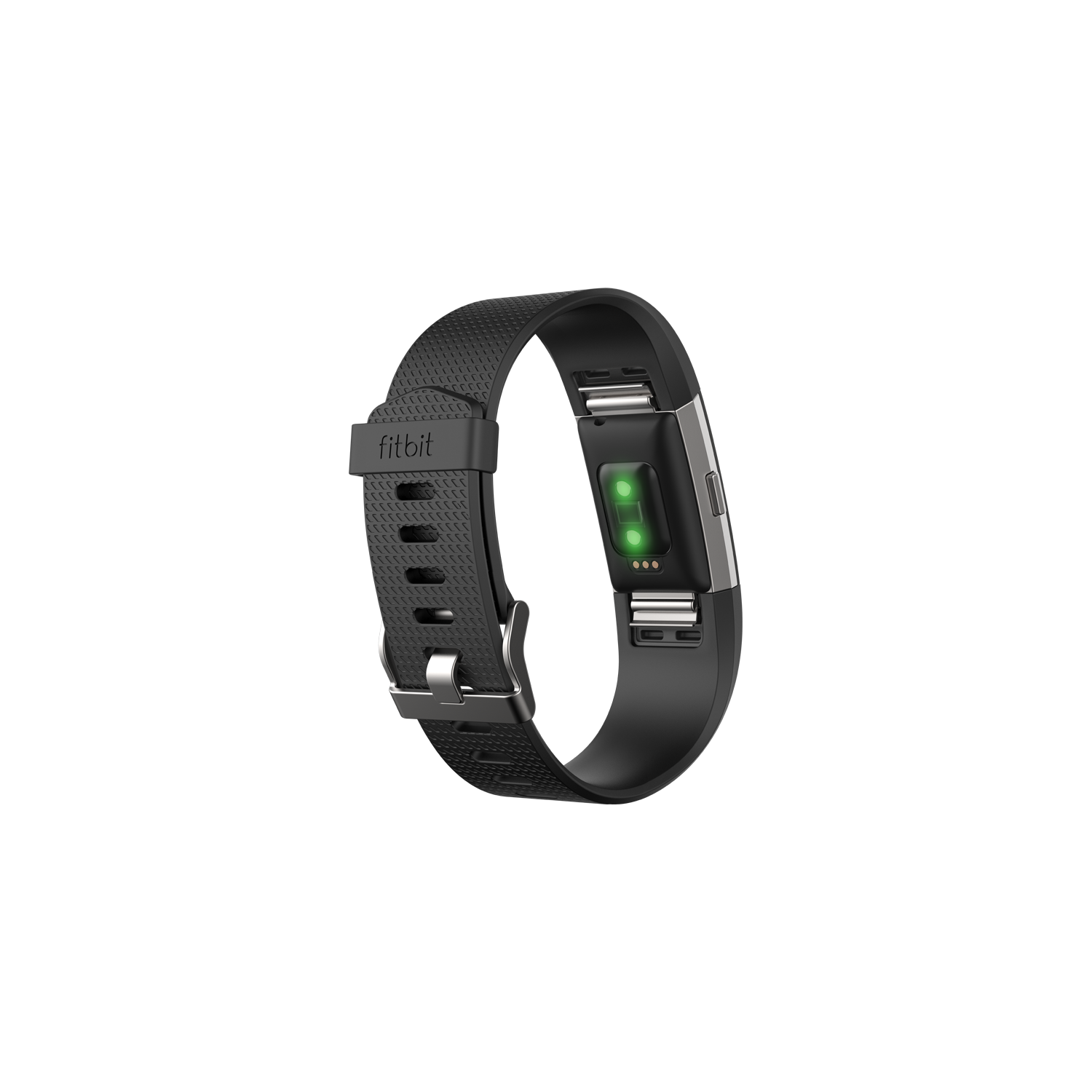 Black FB407SBKL Fitbit Charge 2 Fitness Wristband Large