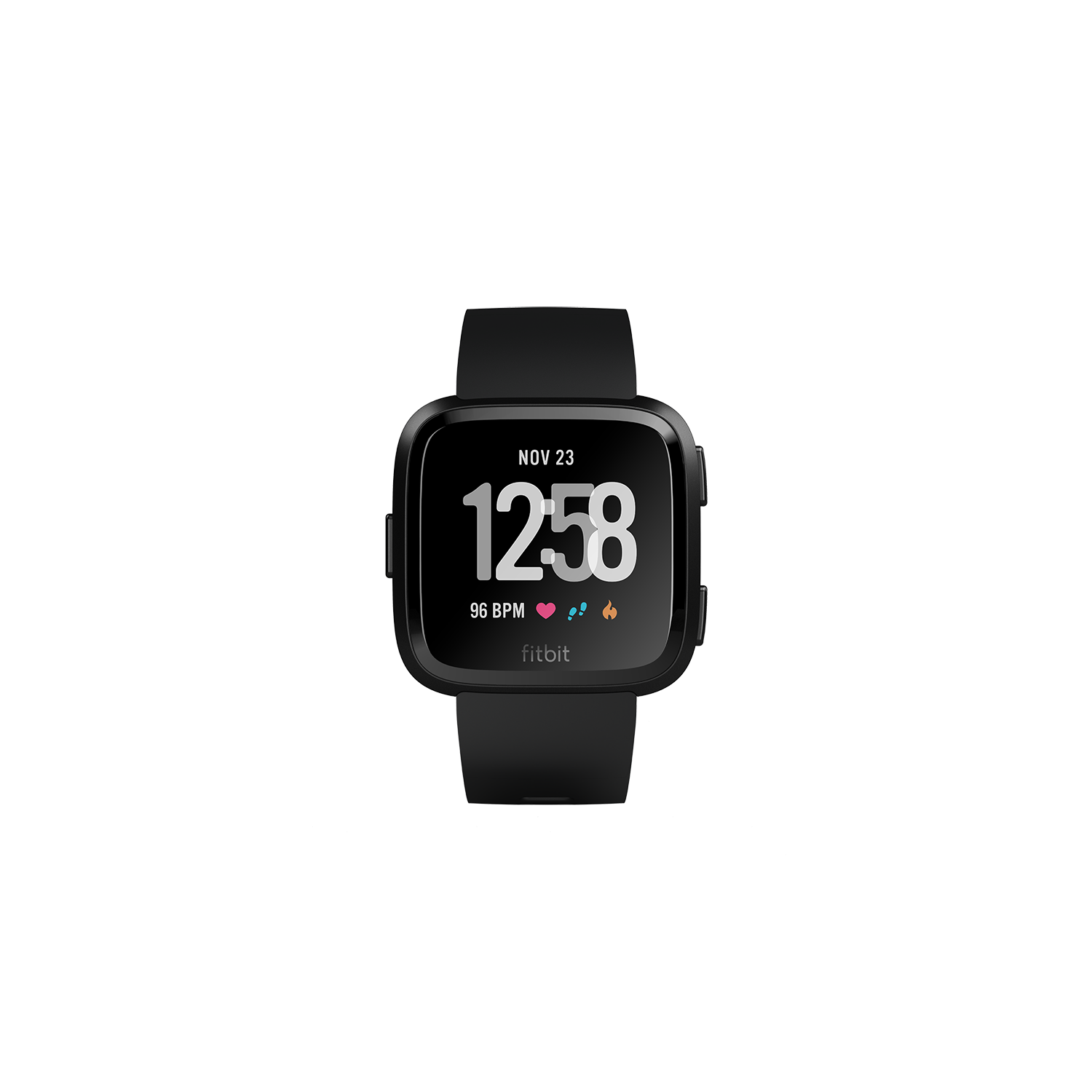 FitBit Versa Smart Watch with Heart Rate Monitor - Black
