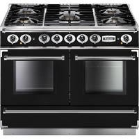 Falcon 79520 Continental 1092 110cm Dual Fuel Range Cooker - Black And Chrome - Matt Pan Stands