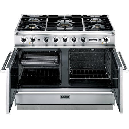 Falcon 79540 Continental 1092 110cm Dual Fuel Range Cooker - China Blue And Brushed Nickel - Matt Pan Stands