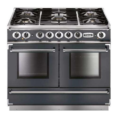 Falcon 10229 Continental 1092 110cm Dual Fuel Range Cooker - Slate - Matt Pan Stands