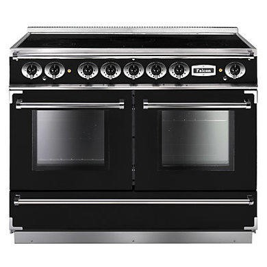 Falcon 83620 Continental 110cm Electric Range Cooker With Induction Hob - Black And Chrome