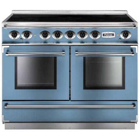 Falcon 83650 Continental 110cm Electric Range Cooker With Induction Hob - China Blue And Nickel