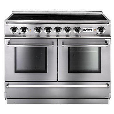 Falcon 83610 Continental 110cm Electric Range Cooker With Induction Hob - Stainless Steel Chrome