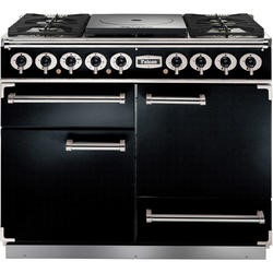 Falcon 81050 - 1092 - 110cm Dual Fuel Range Cooker - Black And Brass