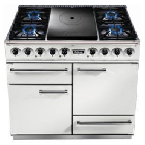 FCT1092DFWHNM Falcon 85420 - 1092 - 110cm Dual Fuel Range Cooker - White And Nickel