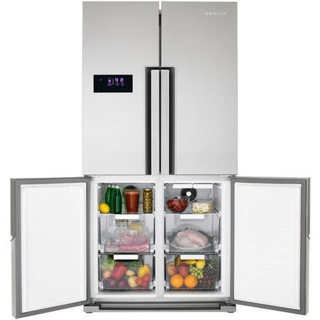 GRADE A2  - Servis FD91185SS American Fridge Freezer Anti-fingerprint Stainless Steel