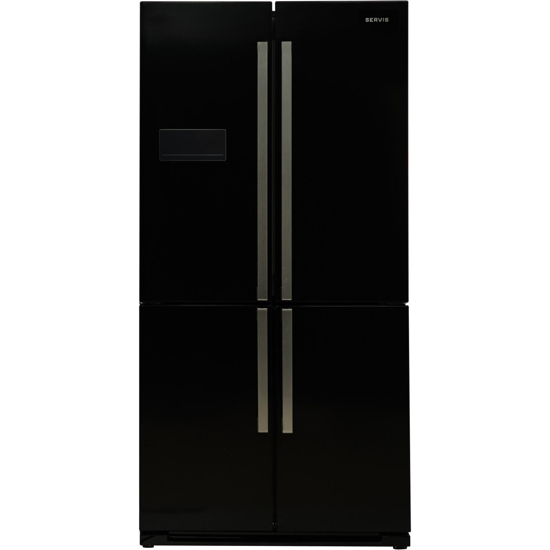 Large Capacity American Fridge Freezer Part - 34: Servis FD911K Large Capacity American Fridge Freezer Black
