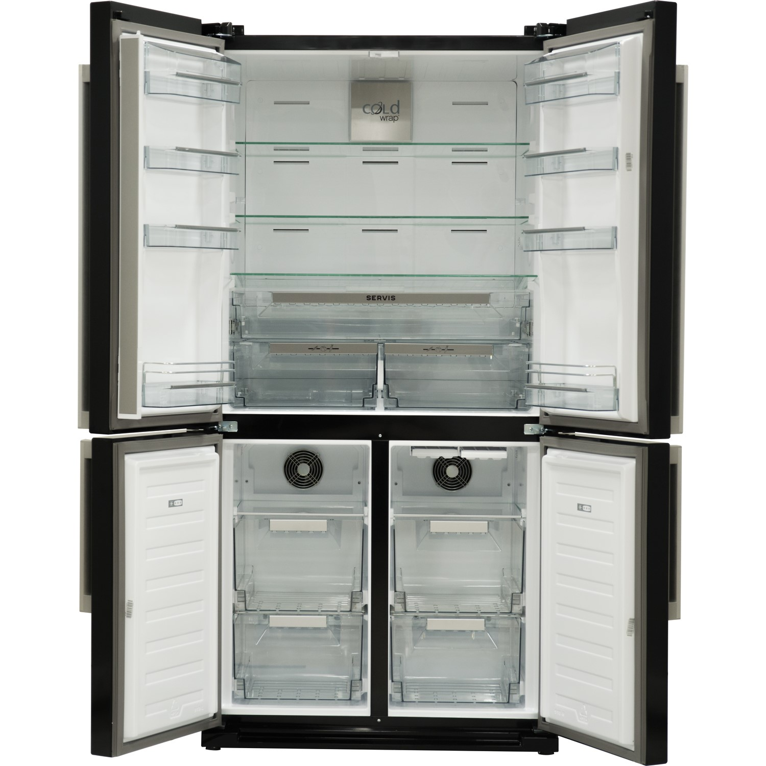 servis fd911k large capacity american fridge freezer black