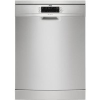 AEG FFB53940ZM 14 Place Freestanding Dishwasher With Cutlery Tray & AirDry Tech - Stainless Steel Best Price, Cheapest Prices