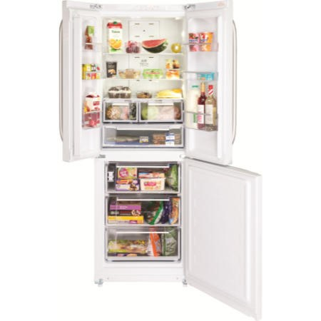 Hotpoint FFU3DW Trio Freestanding Fridge Freezer With French-style Fridge Doors White