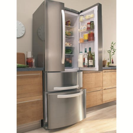 Hotpoint FFU4DX Quadrio 60/40 Frost Free Freestanding Fridge Freezer - Stainless Steel