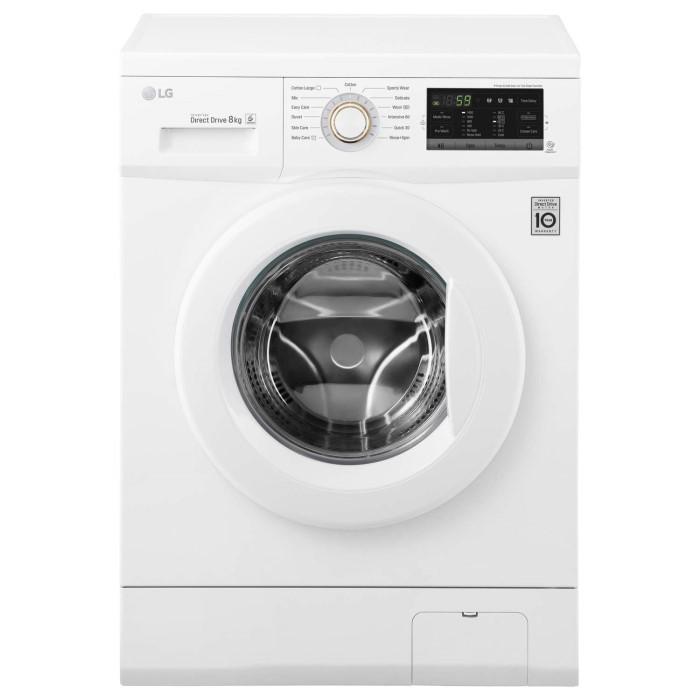 lg fh4g7tdn0 direct drive 8kg 1400rpm freestanding washing machine white appliances direct. Black Bedroom Furniture Sets. Home Design Ideas