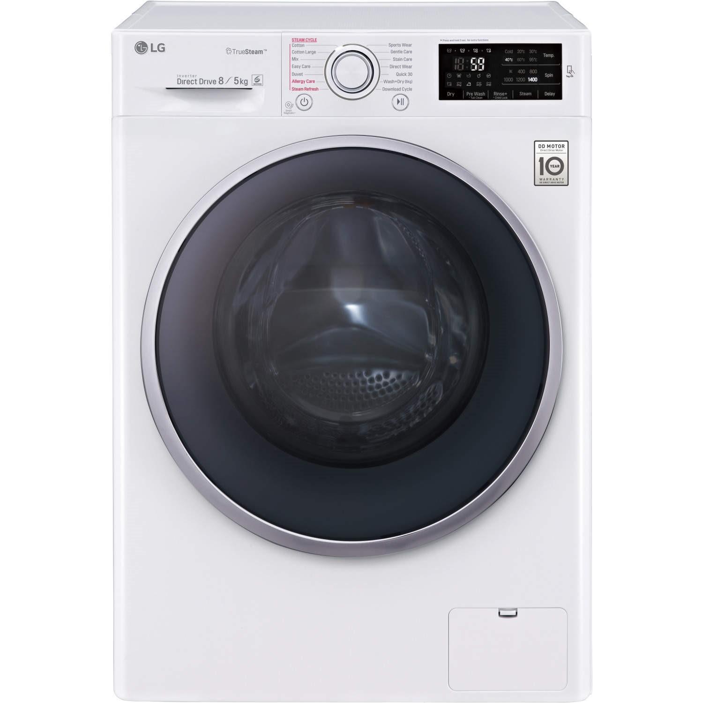 lg fh4u2tdh1n directdrive 8kg wash 5kg dry 1400rpm washer dryer white