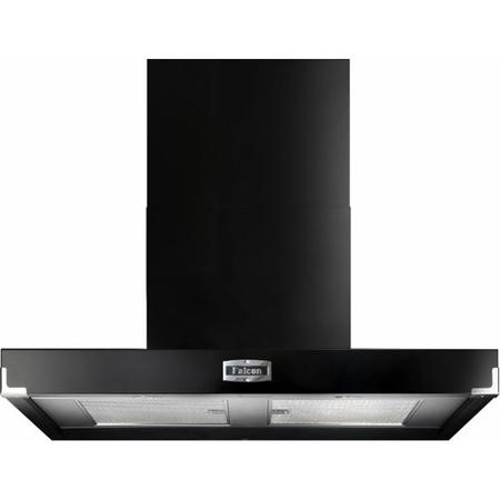 Falcon FHDCT900BLC 90900 Contemporary 90cm Chimney Cooker Hood Black And Chrome