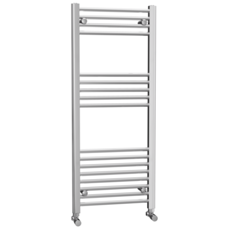 Chrome Bathroom Towel Radiator - 1200 x 500mm - Round Rails