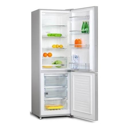 Amica FK3213DFX 185x60cm 297L 60-40 Split Frost Free Freestanding Fridge Freezer - Stainless Steel