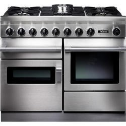 Falcon 82290 CKR 110cm Dual Fuel Range Cooker - Stainless Steel - Porthole Doors - Matt Pan Stands