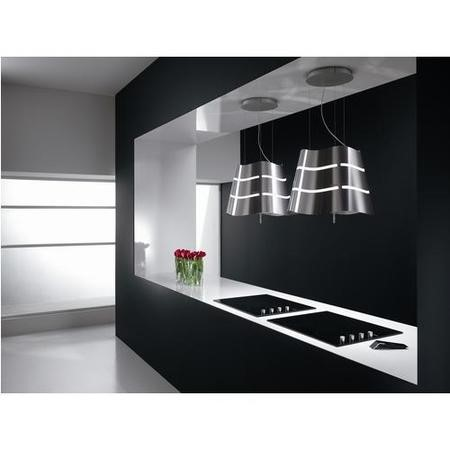 90 Elica FLOW Flow Ceiling Mounted Decorative Island Cooker Hood