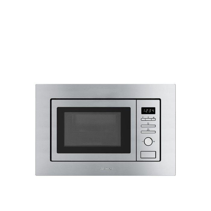 Smeg FMI017X Stainless Steel 17 litre Built-in Microwave with Grill ...