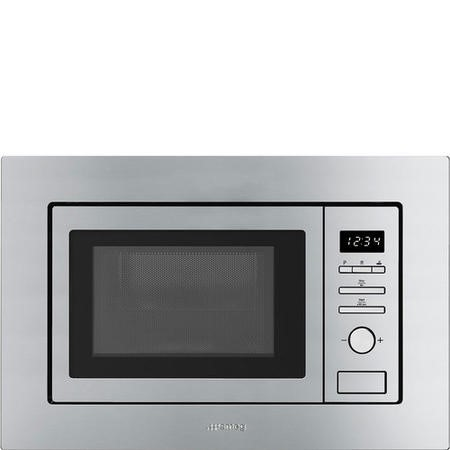 Smeg FMI020X Stainless Steel 20 litre Built-in Microwave with Grill complete with Frame