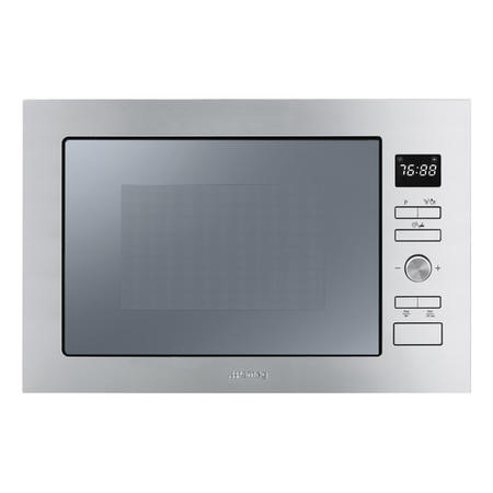 Smeg FMI025X 25L Stainless Steel Built-in Microwave with Grill complete with Frame