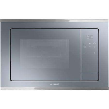 GRADE A2 - Smeg FMI420S Cucina 20L Built-in Microwave Oven And Grill - Silver Glass