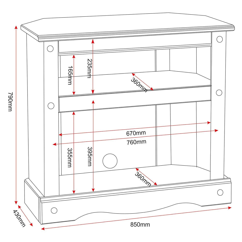 best website 8e315 0e065 Corona Small Corner TV Cabinet in Pine - TV's up to 35