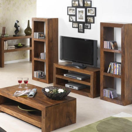 Laguna Sheesham 2 Shelf TV Stand