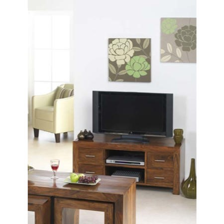 Laguna Sheesham 4 Drawer TV Cabinet