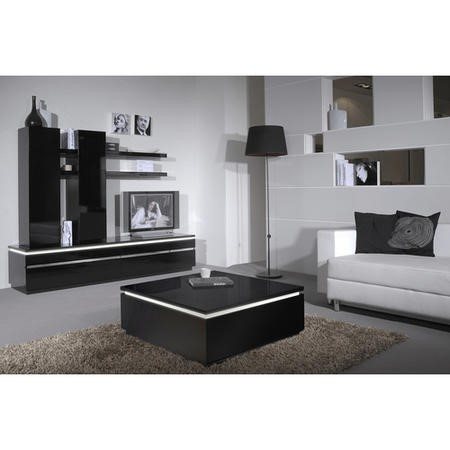 Electra Modern Black High Gloss TV Unit Stand