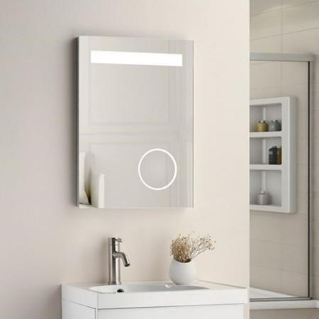 LED Illumination, Incl Magnifying Mirror, De-mist, Shaving Socket & Rocker Switch  Size: 500x700x45m