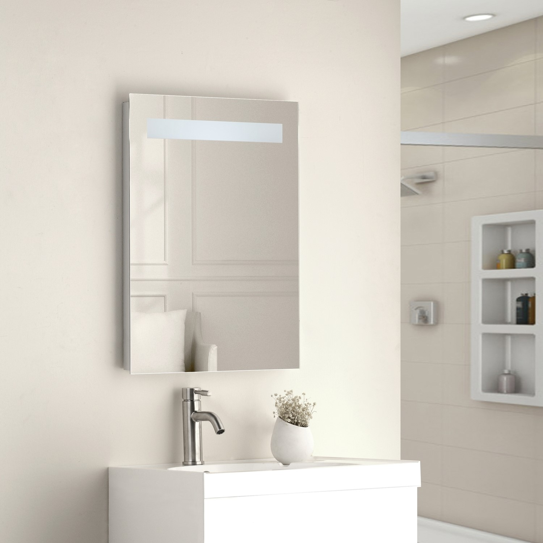 Sonora Led Bathroom Mirror With Demister Pad Shaver Socket Fol100198
