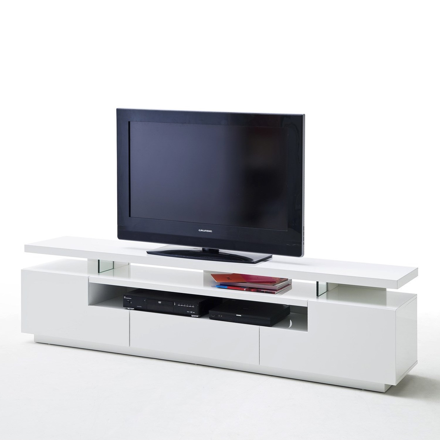 Evoque White High Gloss Soundbar Tv Unit With Led Feature Fol100213