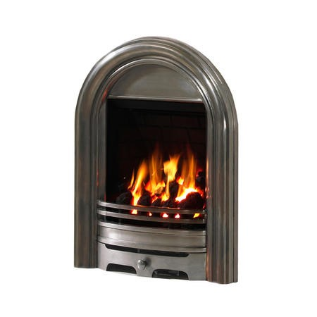 Be Modern Abbey Slimline 120mm Gas Fire Fully Polished