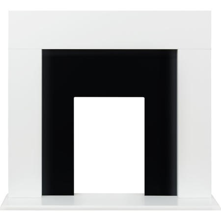 Adam Miami Fireplace in Pure White and Black