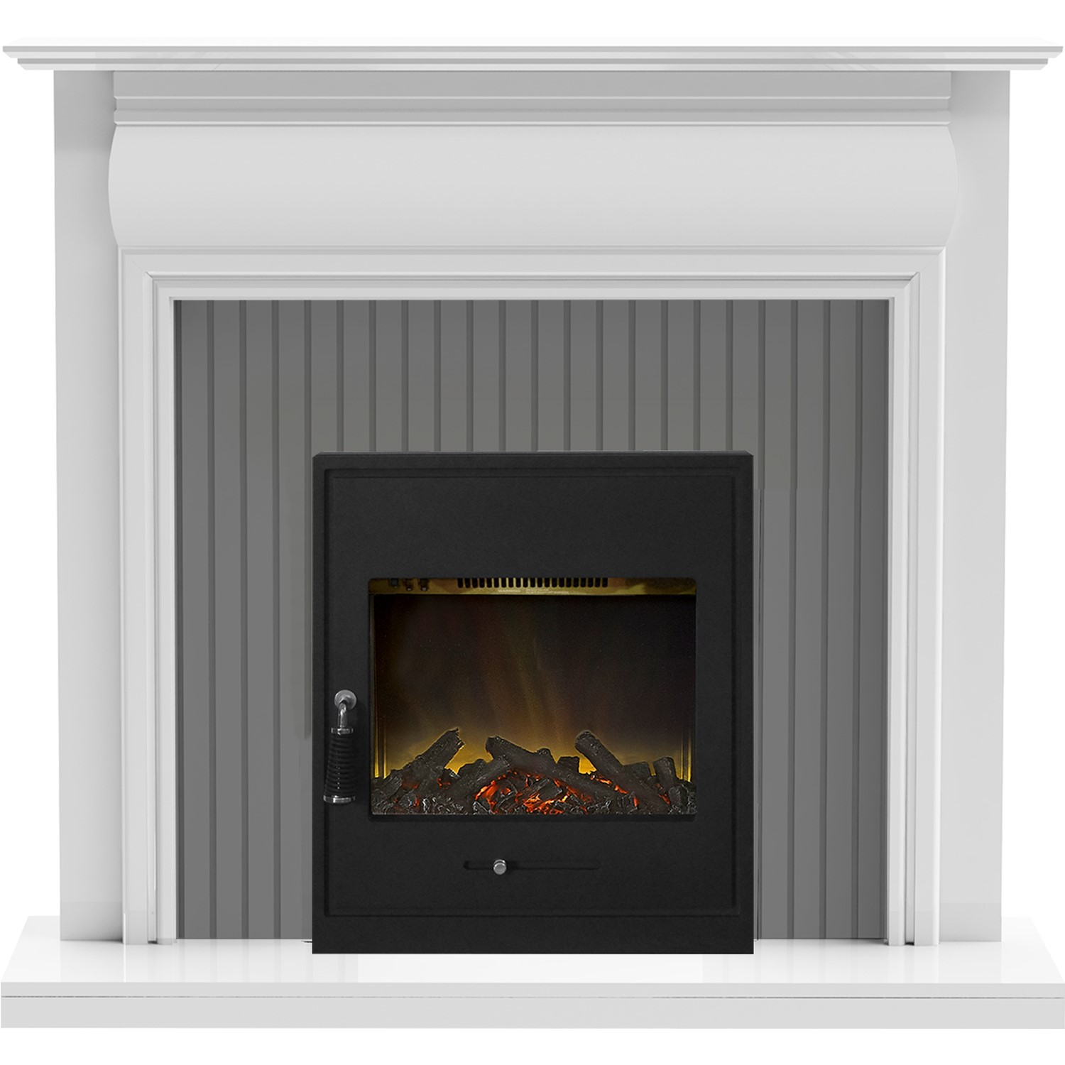 Awe Inspiring Adam Westminster Fireplace In White Galaxy Grey With Oslo Electric Inset Stove In Black Interior Design Ideas Inamawefileorg